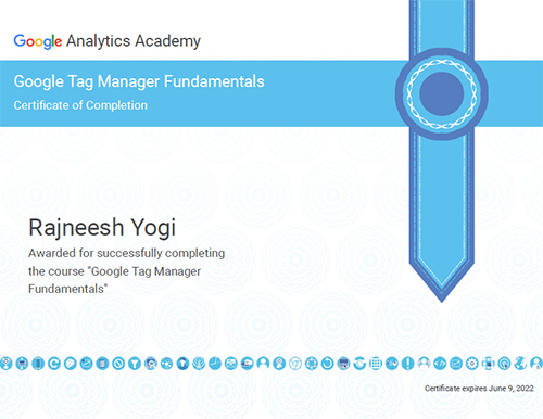 Google Tag Manager Certificaion